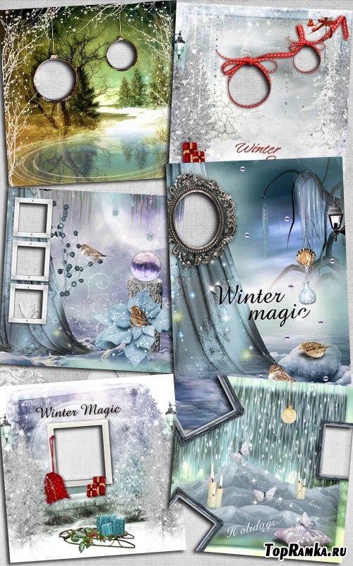 Завораживающие зимние рамки для фото