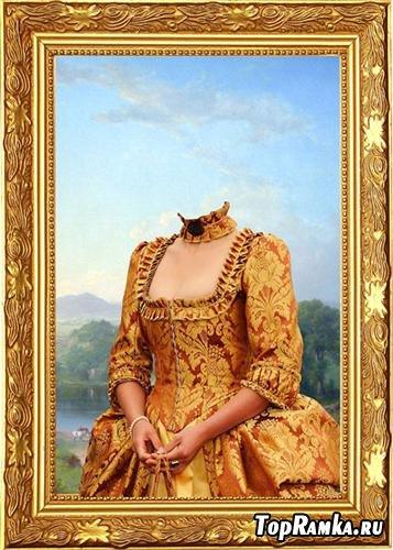Шаблон для фотошоп - Женский портрет