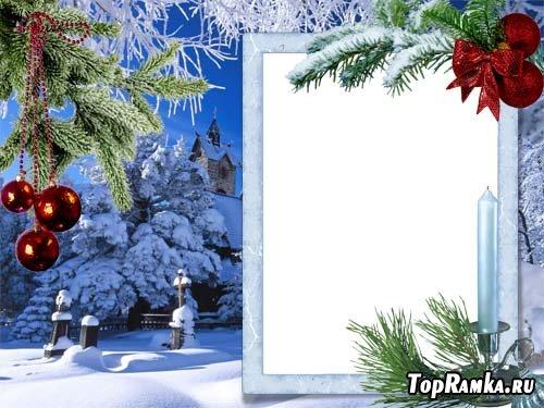 Новогодняя рамка для фото