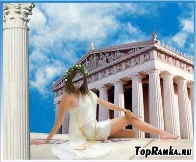 Шаблон для фотошоп - Афина дочь Зевса