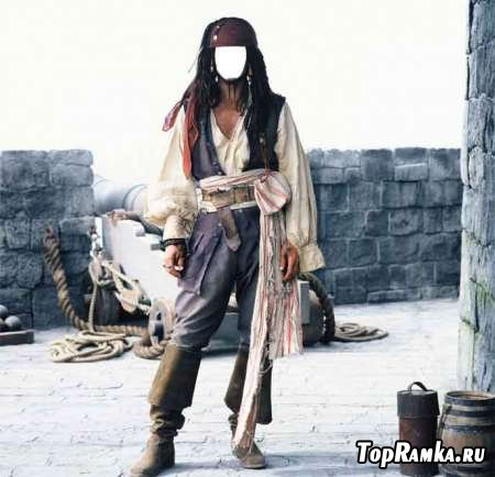Шаблон для фотошоп – Пират