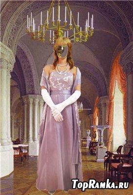Скачать женский шаблон для фотошопа - В образе королевы