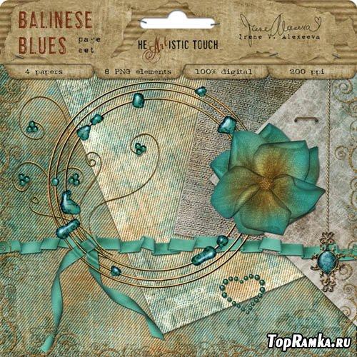 Красивый мини скрап набор - Balinese Blues