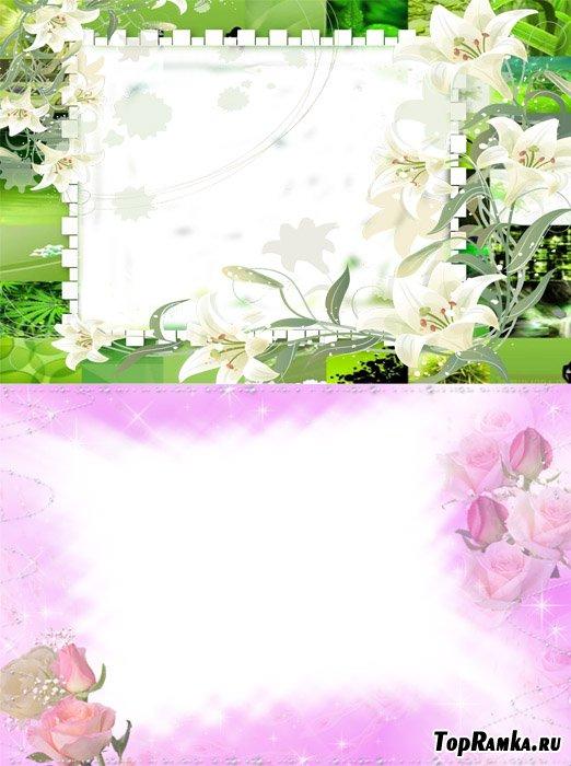 Красивые рамки с цветами