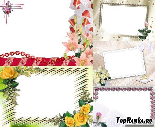 Красивые рамочки с цветами