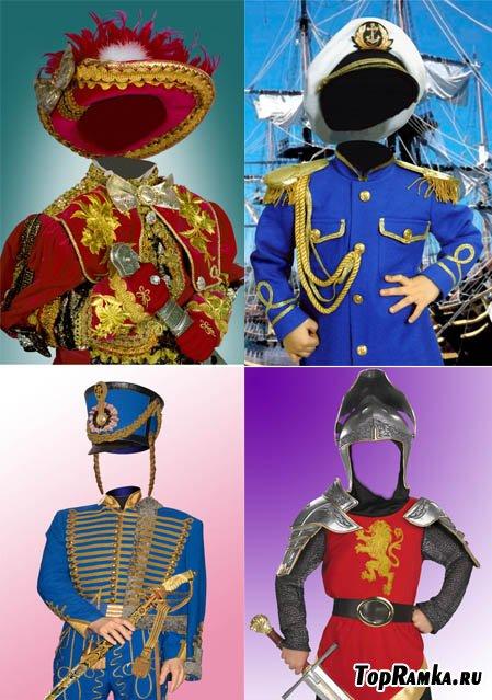 Шаблоны костюмов для мальчиков