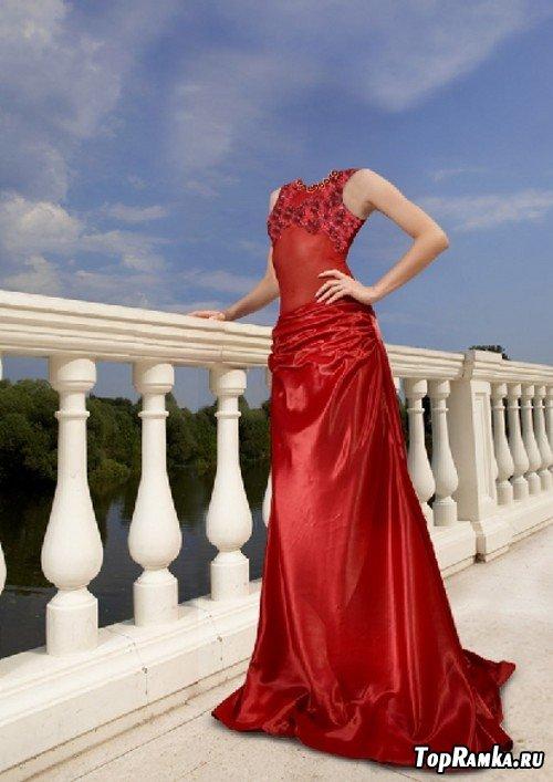 Шаблон для девушки - Дама в красном