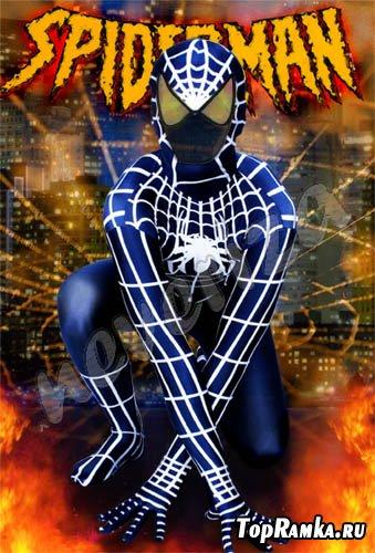 Шаблон для photoshop – Человек паук!