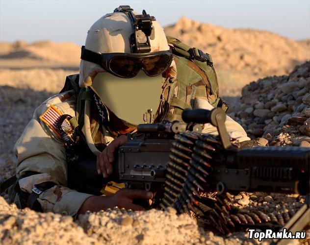 Военный шаблон для фотомонтажа в ps