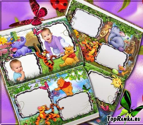 Рамочки для оформления детских фото с Винни