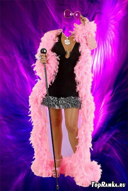 Шаблон для фотомотажа - Розовый гламур