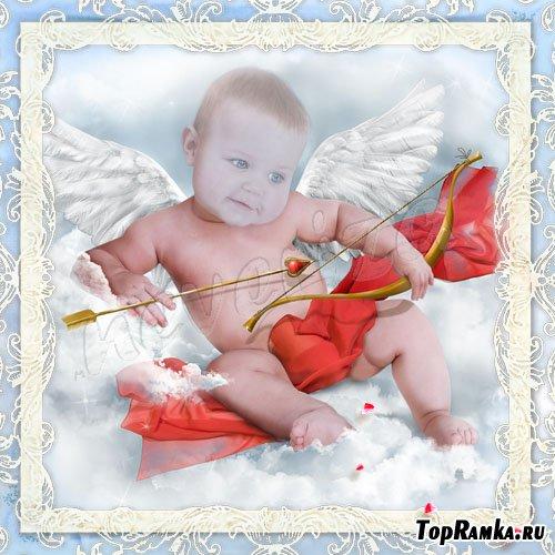 Шаблон для photoshop – Малыш Амурчик