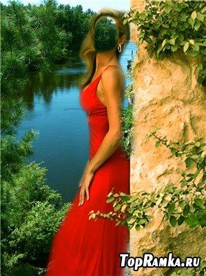 Женский шаблон для фотошоп - Озеро желаний