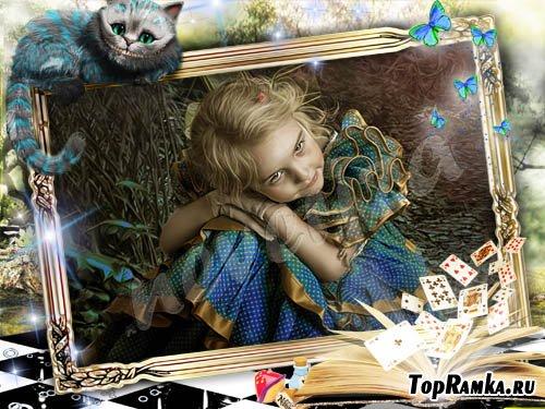 Рамка для фото – Алиса в стране чудес 2
