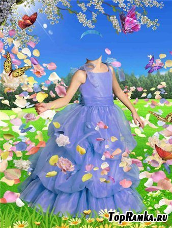 Шаблон для фото – В весеннем саду