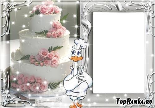 Нежная рамочка для свадебного фото