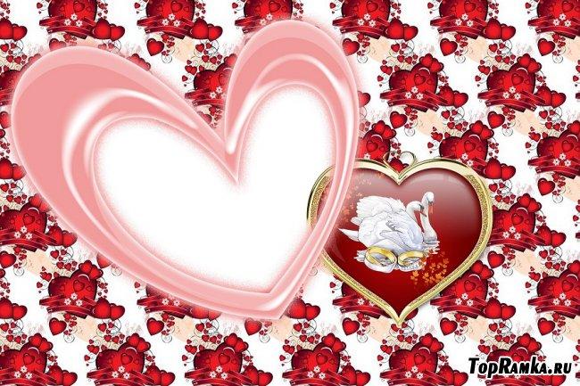 Романтическая рамка сердце