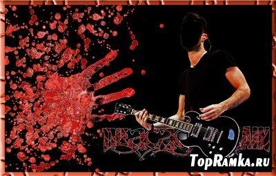 Шаблон для фотошоп - Гитарист