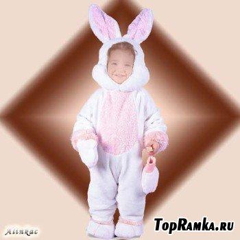 Шаблон для детей - Костюм  зайца!