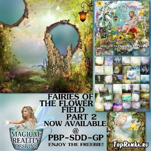 Скрап-набор Fairies OF The Flower Field Part 2