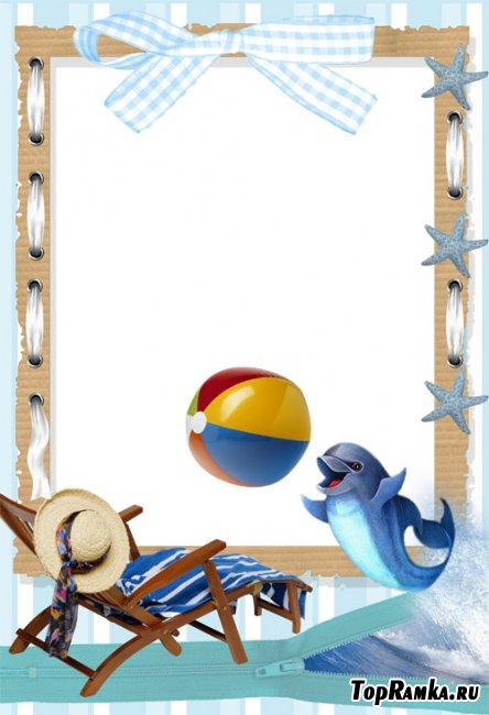 Скачать бесплатно детскую рамку - Отдых у моря