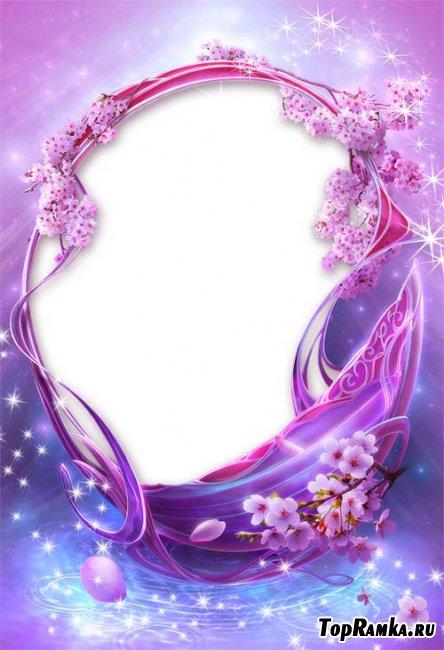 Фиолетовая сказочная рамка для фотошопа