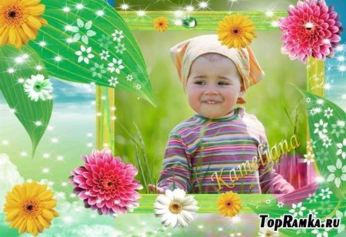 Рамочка для фото - Летние цветы