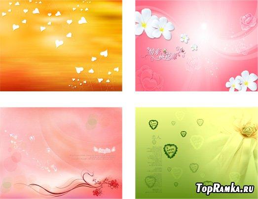 Скачать бесплатно романтические фоны для фотошопа
