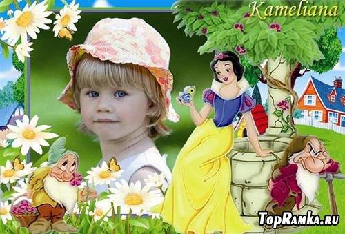 Рамка для детского фото - Белоснежка