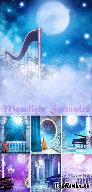 Скачать фоны для фотошопа -Moonlight Serenades