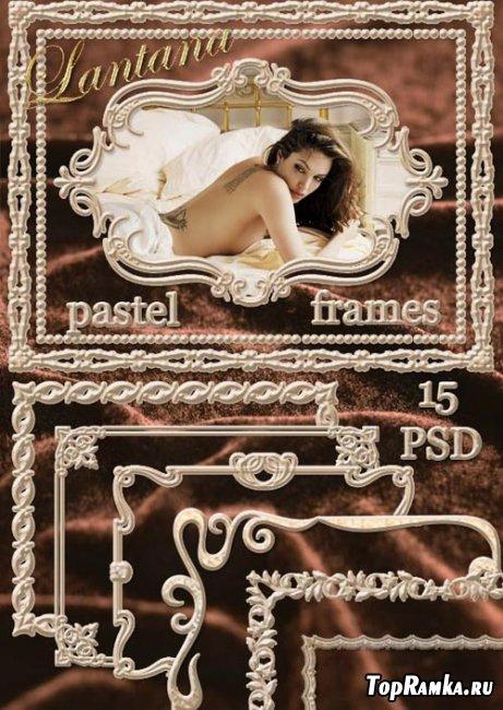 Коллекция рамок для фотошопа - Pastel frames