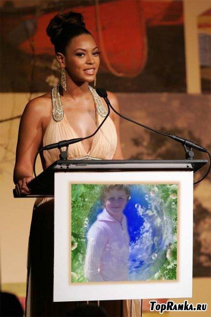 Рамка фотоэффект с Beyonce  скачать бесплатно