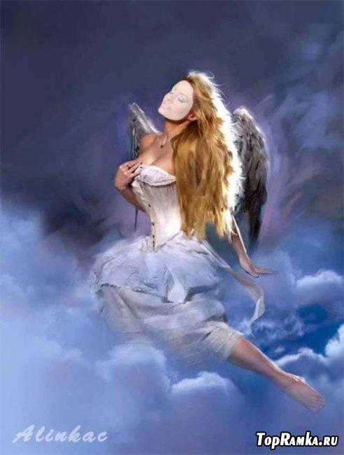 Шаблон для фотошоп - Прекрасный ангел!