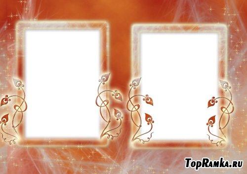 Рамка для двух фото - Оранжевое настроение