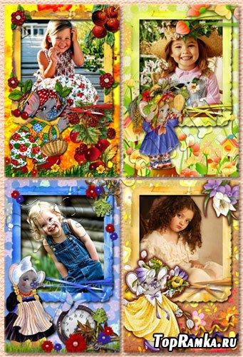 Набор детских рамок для фотошопа