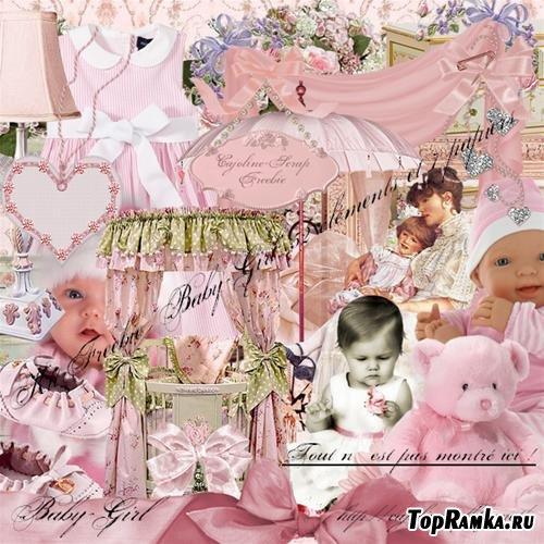 Детский скрап-набор - Девочка ( Baby girl )