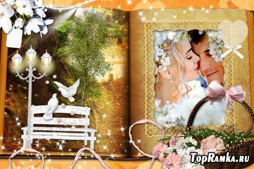 Романтическая рамка для фото