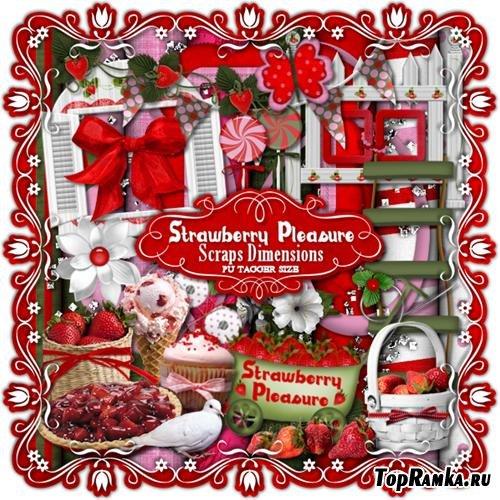 Скрап-набор - Клубничное удовольствие (STRAWBERRY PLEASURE)