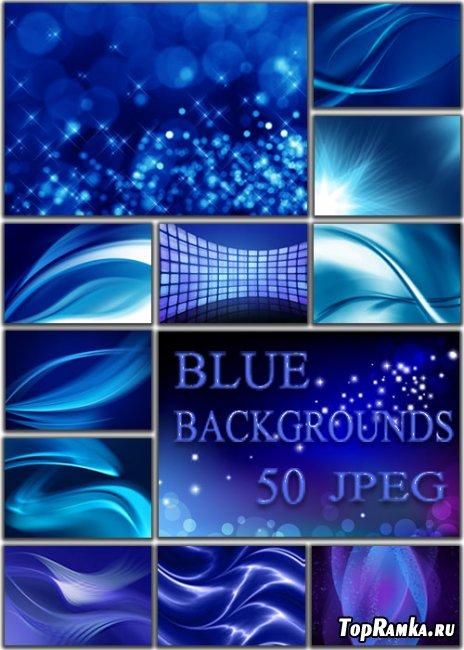 Фоны для оформления фото и коллажей - Синие