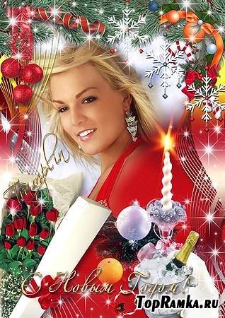 Новогодняя Рамка- открытка