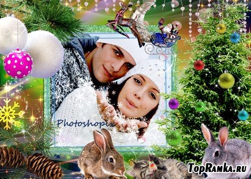 Новогодняя рамка для Photoshop – Долгожданный Новый Год!!!