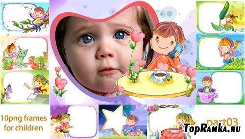 Детские рамочки - улыбнись малыш