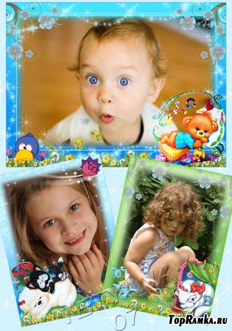 Детские рамочки для фотошоп,2часть