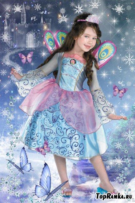 Шаблон детский для Photoshop – Сказочная принцесса