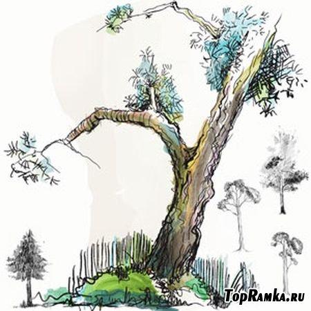 """Кисти для Photoshop """"Деревья"""" (Trees)"""