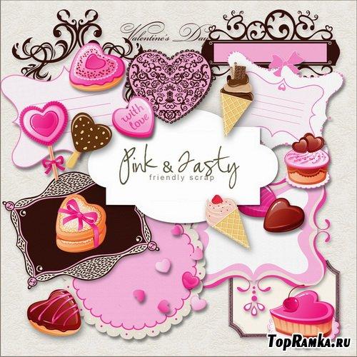 Клипарт ко Дню влюблённых - Розовый стиль