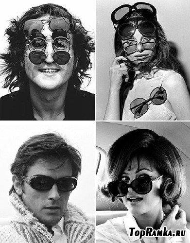 Мода 60-х и 70-х годов. Солнцезащитные очки (Sunglasses).