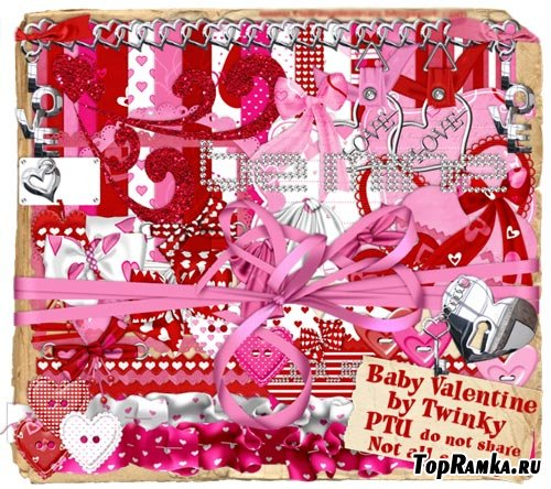 Скрап-набор - День Святого Валентина для Ребенка
