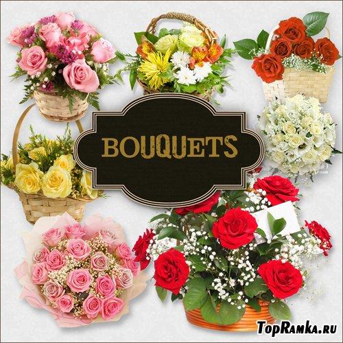 Скрап-набор - Букеты Цветов
