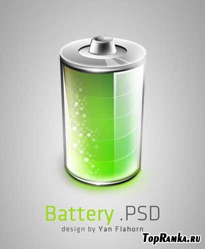 "PSD-исходник ""Батарейка"""